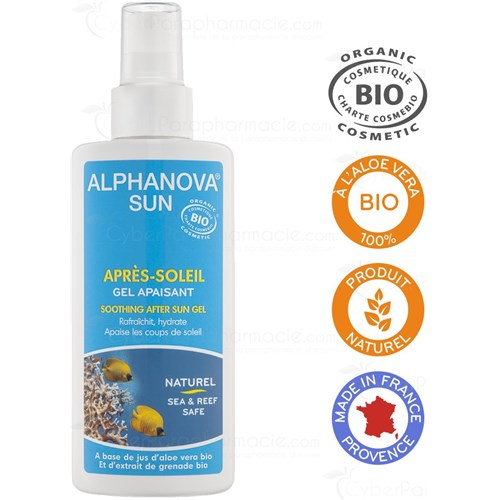SUN, SOOTHING SOOTHING BIO GEL CHILDREN AND ADULTS, 125ml Spray