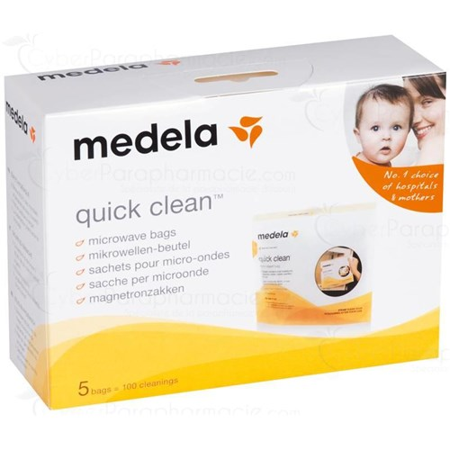 MEDELA QUICK CLEAN bag for microwave sterilization. - Bt 5
