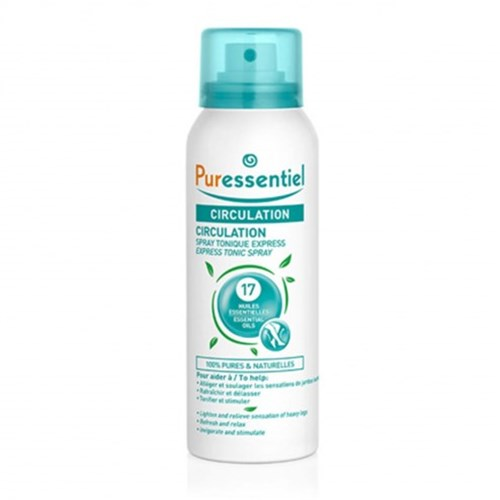 SPRAY EXPRESS TONIQUE AUX 17 CIRCULATION 100ML HUILES ESSENTIELLES PURESSENTIEL