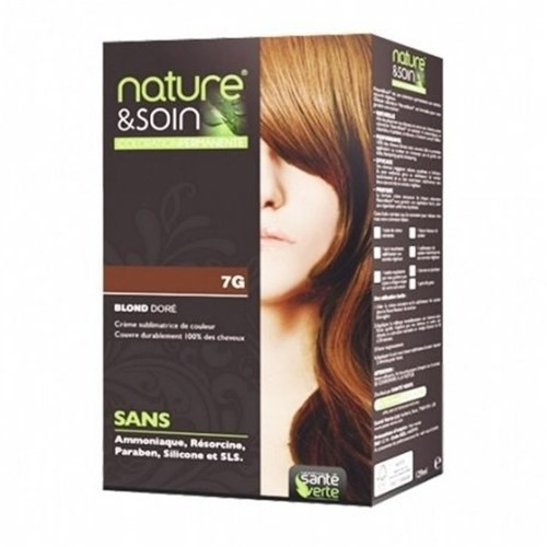 NATURE & SOIN color 7G golden blond