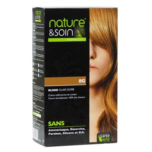 NATURE & SOIN color 8G golden light blond