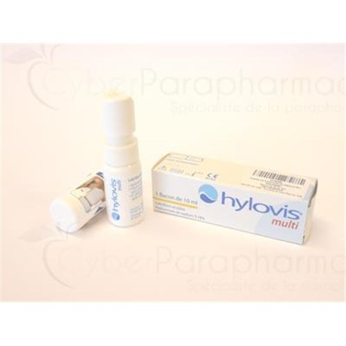 HYLOVIS MULTI, lubricating ophthalmic solution for ocular instillation, multidose. - 10 fl oz