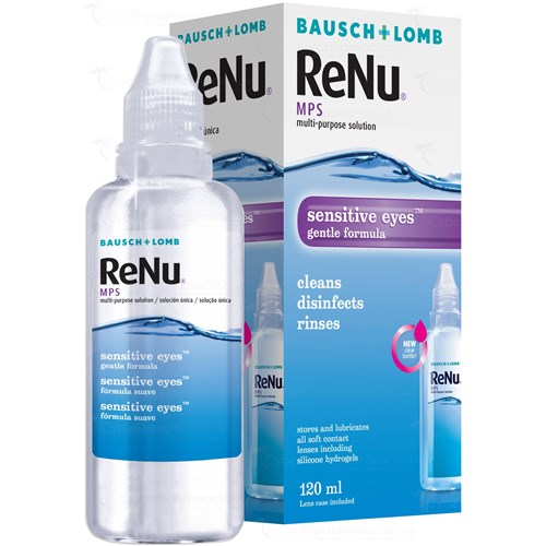 RENU MPS, Multi-function sensitive eye solution for soft lenses, 120 ml bottle