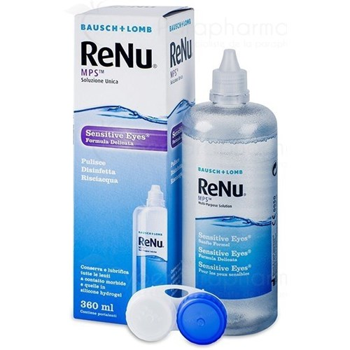RENU MPS, Sensitive eye multi-function solution for soft lenses, 360 ml bottle