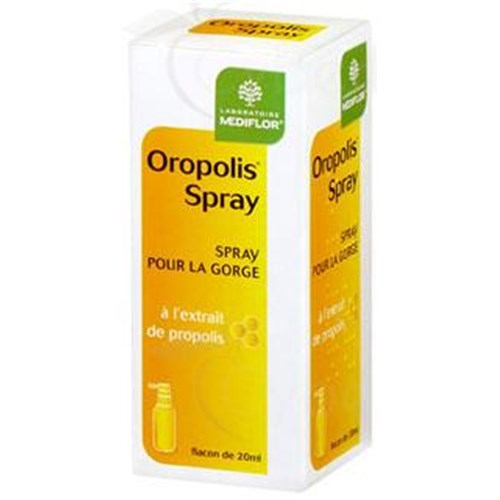 OROPOLIS THROAT SPRAY, Spray, dietary supplement softening extract of propolis. - Spray 20 ml
