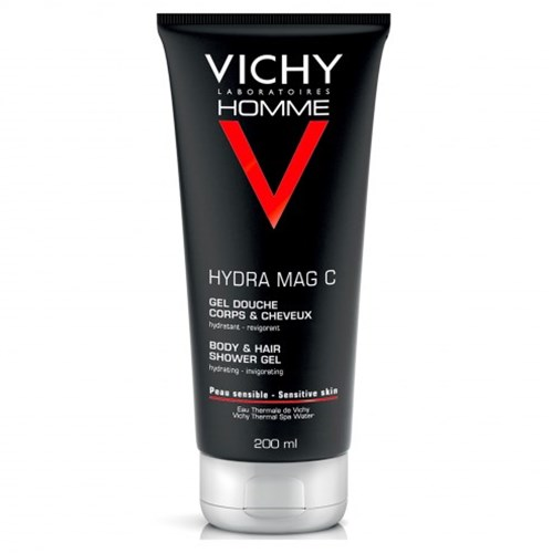 GEL DOUCHE CORPS & CHEVEUX HYDRATANT ENERGISANT HYDRA MAG-C 200ML HOMME VICHY