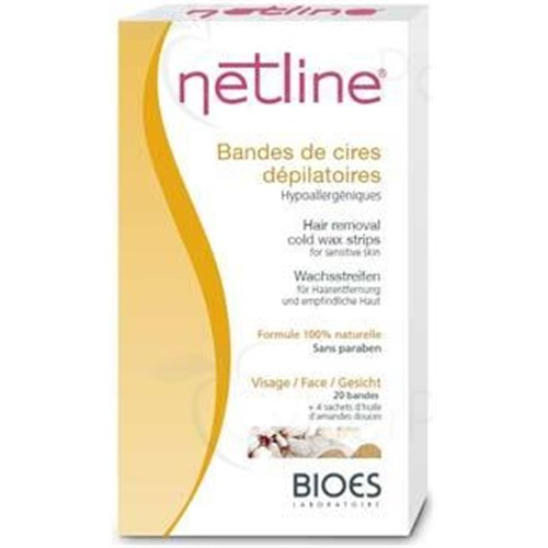 NETLINE WAX STRIPS DEPILATORY FACE, Trailer cold wax depilatory, special face. - Bt 20