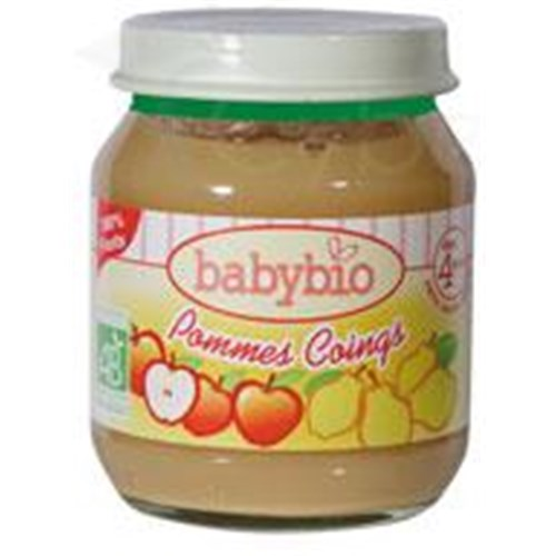 BABYBIO POTS SMALL FRUITS, Small jar of apple - quince. - 130 g pot