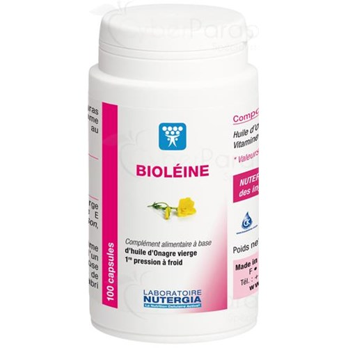 BIOLEINE, Capsule dietary supplement of evening primrose oil and vitamin E natural. - Bt 100