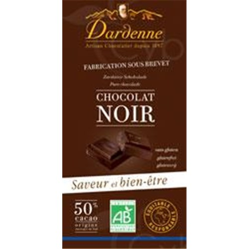 CHOCOLATE CHOCOLATE BAKED Dardenne, Chocolate tablet dark chocolate with cane sugar, 50% cocoa, vanilla more (ref. TB2) - 200 g tablet