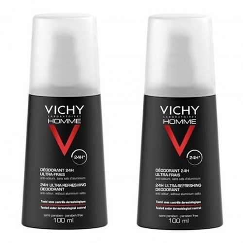 VICHY ULTRA-FRESH DEODORIZING SPRAY 2X100ML MEN