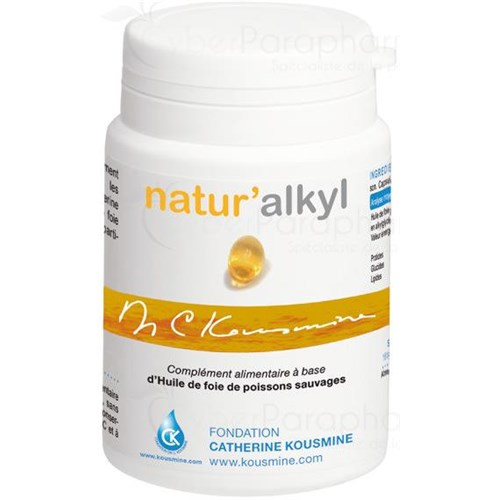 NATUR ALKYL, capsule, food supplement rich in alkoglycérols. - Bt 90