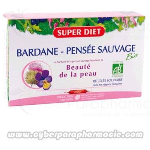 BARDANNE PANSEE SAUVAGE Skin beauty 20 ampoules