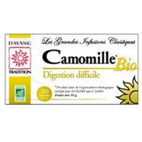 DAYANG BREWING CLASSIC BIO CAMOMILLE, chamomile, tea bags. - Bt 20