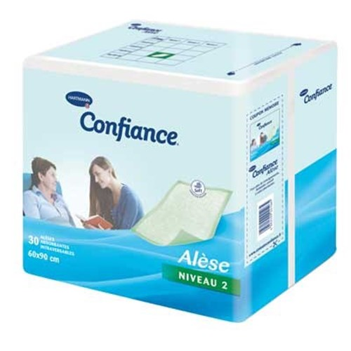ALESE CONFIDENCE LEVEL 2 Intraversible single-use, non-latex, 90 cm x 180 cm intraversal pad (item 1610231), bag 20