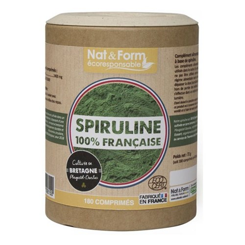 French Organic spirulina 180 tablets