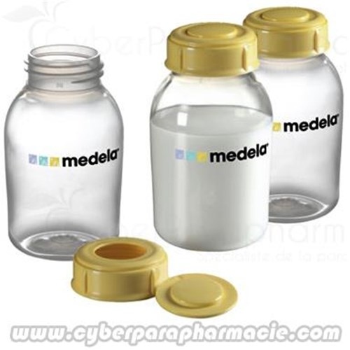 BABY BOTTLE 150 ml x3, Baby Bottle with closure system for storing breast milk - bt 3